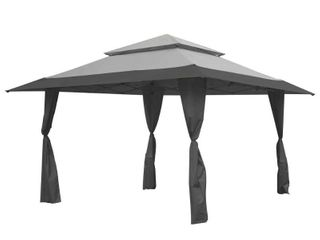 Z Shade 13  x 13  Foot Instant Gazebo Canopy Tent Outdoor Patio Shelter  Gray