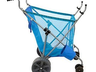 Seina Steel Framed Collapsible Versatile Garden Cart Beach Sand Cruiser  Blue