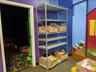 Adjustable Shelving  Contents Not Included