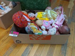 Assorted Dolls And Stuffed Dolls