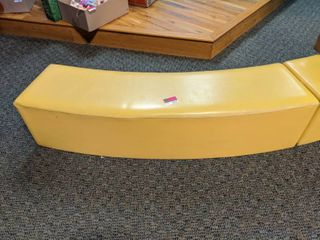 Cushioned Curved Bench