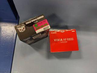 Canon Vixia HD Camcorder HFR800  Night Owl 1080P Wired Camera CAM HDA10W BU