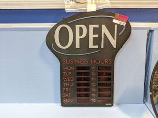 Newon Open Sign 6093