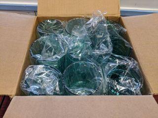 36  12 Oz Azure Plastic Tumblers