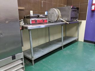Stainless Steel Prep Table With Edlund Can Opener