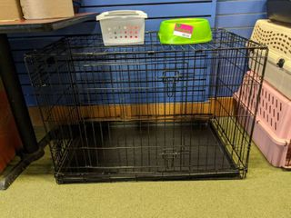 Dog Kennel  Toys  And Bowl
