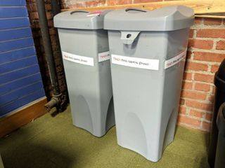 2  Rubbermaid Trash Cans 23 Gallons