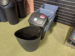4  Small Trash Cans