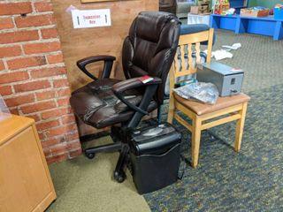 Rolling Computer Chair  Document Shredder