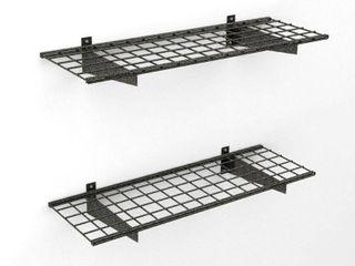 Hyloft Wall Shelf  2pk  Black Hammertone