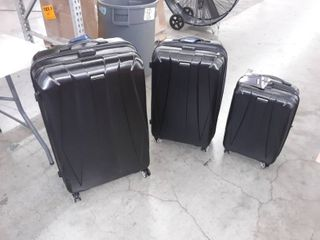 3 piece Samsonite Centric 2 Hardside Expandable luggage Set with Spinner Wheels   black