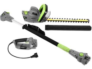 4 5 Amp 2 in 1 Convertible Pole Hedge Trimmer   Earthwise