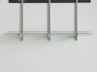 Rubbermaid Fasttrack Starter Kit for Garage  Shelves  2091174  Black