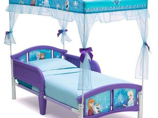 Delta Children Disney Frozen Plastic Toddler Canopy Bed  Purple