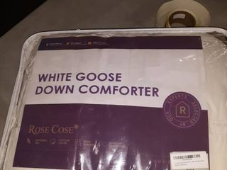 White King Size Goose down comforter