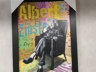 19  x 13  framed Albert Einstein picture