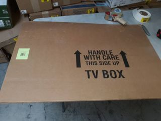 TV Moving Box Fits up to 60  plasma  lCD  or lED TV   4 Piece TV Box up to 56 x 8 x 42