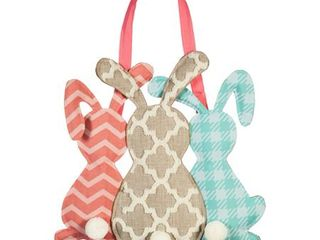 Evergreen Door Decor  Pattern Bunny Trio