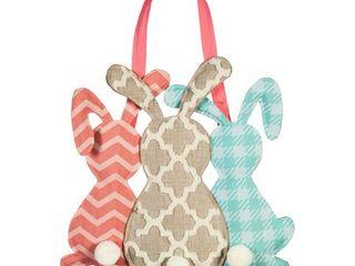 Evergreen Door Decor  Pattern Bunny Trio