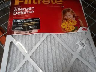 Filtrete Micro Allergen Reduction Filter  20 Inch by 24 Inch by 1 Inch  2 Pack