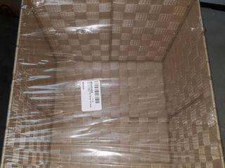 Whitmor Woven Strap Storage Tote Basket Cream