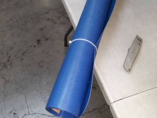 Blue hard floor chair mat