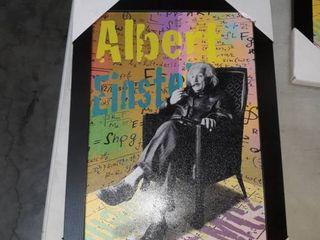19 x 13 inch Albert Einstein framed picture
