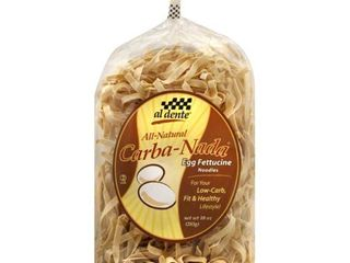 Box of Al Dente Carba Nada Egg Fettuccine  10 Ounce Bags  Pack of 6