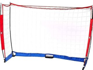 Essigy Portable Soccer Goals  for Training Kids and Teens   Backyard Rebounder with Carrying Bag Included   Red  White  Blue Goal Equipment for Boys and Girls  Secure Easy Setup  Mini Net  6 x 4 Foot