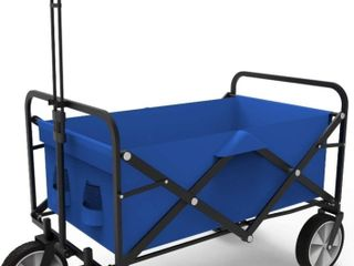 1 pc folding Wagon cart with wheels  blue