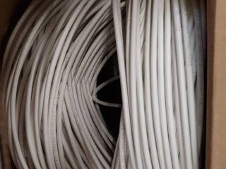 Plenum 1 000 ft cable UTP White Solid Bare Copper