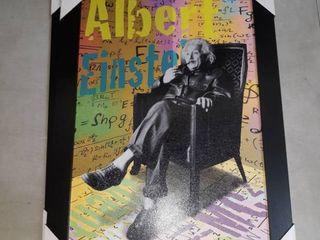 13 x 19  Albert Einstein framed photograph wall hanging