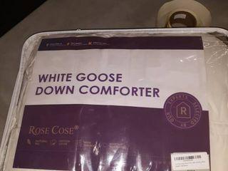 King Size white goose down comforter