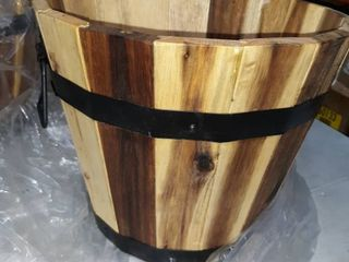 WORTH IMPORTS wooden plant barrel