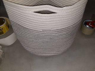 Grey Oak plant basket