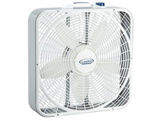 lasko 20a Weather Shield Performance Box Fan   Features Innovative Wind Ring System for Up to 30  More Air  3720