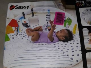 Sassy Stages Developmental Gym With Built in Instructions  Ages 0