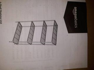 Amazonbasics 4 Shelf Shelving Unit Black