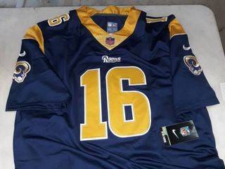 large Goff  16 los Angeles Rams football Jersey