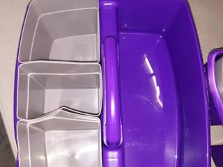 Pack of 2 Purple and Gray Shower Caddies
