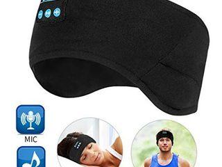 Bluetooth Headband Wireless Sleep Headphones  TOPOINT Music Sports Sleeping Headband Headphones for Workout  Jogging  Yoga  Black