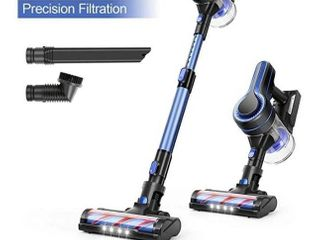APOSEN Cordless Vacuum Cleaner  18KPa Powerful Suction 250W Brushless Motor 4 in 1 Stick Vacuum for Home Hard Floor Carpet Car Pet H250 Blue
