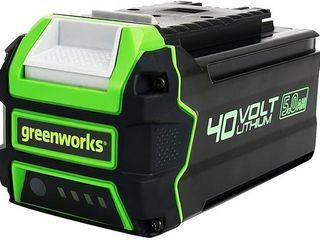Greenworks BAF705 40V 5 0Ah lithium Ion Battery with USB