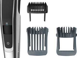 Philips Norelco Beard Trimmer Series 5000  BT5511 49  electric  cordless  one pass beard and stubble trimmer with washable feature for easy clean  Black and Silver