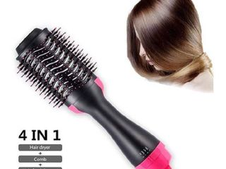 One Step Hair Dryer and Volumizer Professional Salon Hot Air Brush Styler and Dryer 3 in 1 Negative Ion Straightener Curly Brush Hair Dryer with Comb for All Hair Type with Anti Scald Feature