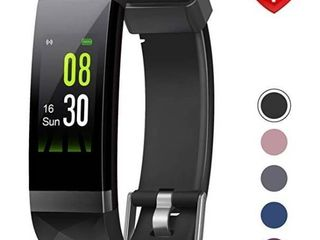 Fitness Tracker with Fitness Tracker HR  Color Screen Heart Rate Monitor Watch  Smart Activity Tracker Watch  IP68 Waterproof  Step Calorie Counter  Sleep Monitor  Pedometer Watch  Grey