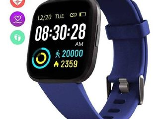 FITVII Smart Watch  Fitness Tracker with IP68 Waterproof Touch Screen Watches  Blood Pressure Heart Rate Monitor with Running Pedometer Step Counter Sleep Tracker for Women Men with iPhone   Android