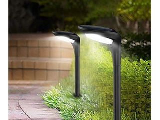 Solar landscape Path lights lED Garden Spotlight Outdoor In Ground lights with 2 lighting Modes  Cool White   Warm White  Waterproof Solar Powered light for Pathway Yard Patio lawn 2 Pack