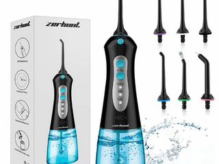 Cordless Water Flosser Teeth Cleaner   NEWEST 2020  High Pulse Rechargable Portable Oral Irrigator For Travel  Braces   Bridges Care  IPX7 Waterproof With 6 Interchangeable Jet Tips  Black