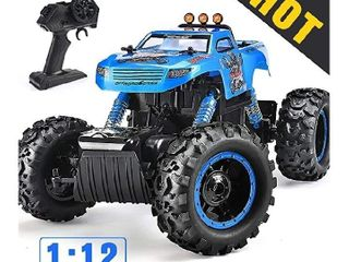NQD Remote Control Trucks Monster RC Car 1  12 Scale Off Road Vehicle 2 4Ghz Radio Remote Control Car 4WD High Speed Racing All Terrain Climbing Car Gift for Boys